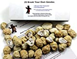 """25 Break Your Own Geodes, 90% Hollow-Small ( 1-1.5"""") Crack Open & Discover ..."""